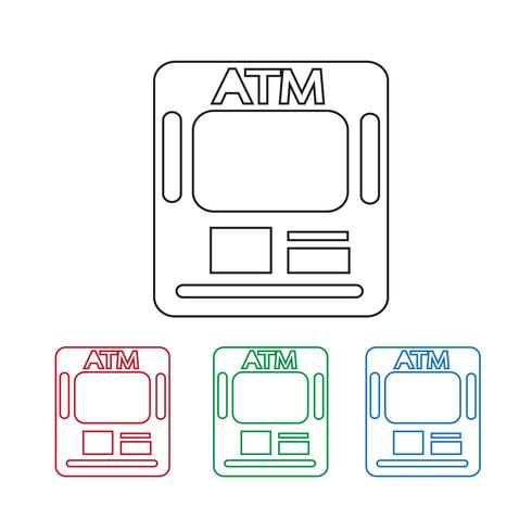 Atm pictogram symbool teken vector