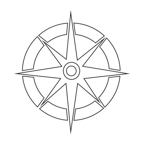Kompas pictogram symbool teken vector