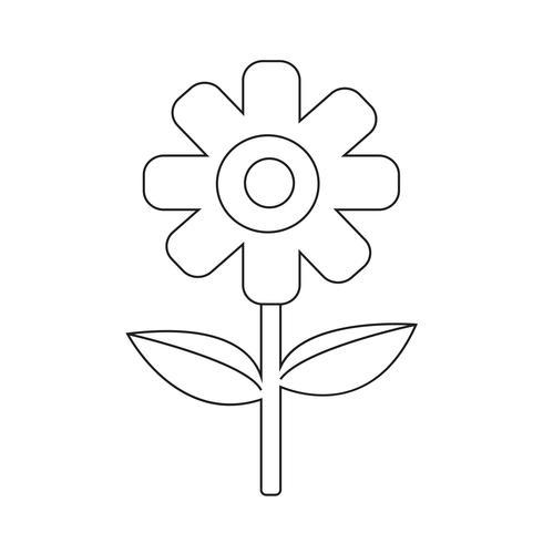 Bloem pictogram symbool teken vector