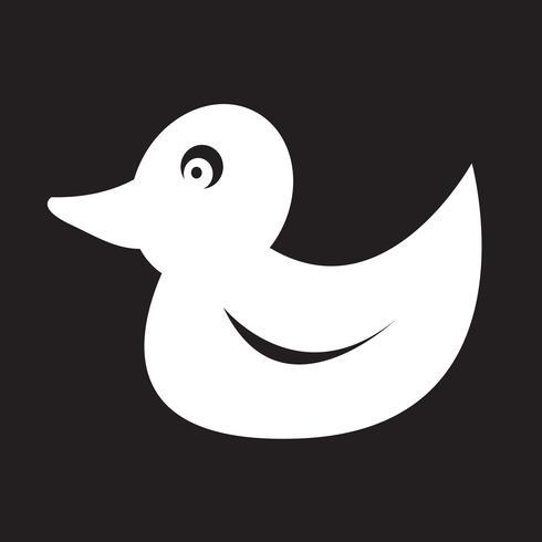 Eend pictogram symbool teken vector