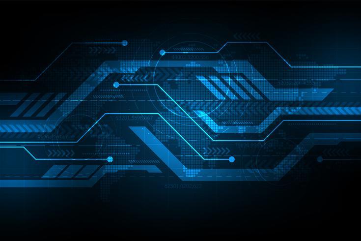 Vectorachtergrond in het concept technologie. vector