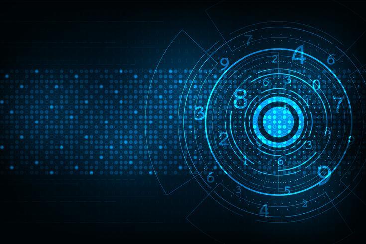 Technologie in de vorm van digitaal. vector