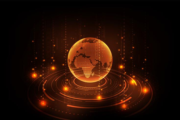 Informatie en digitale wereld van de toekomst. vector