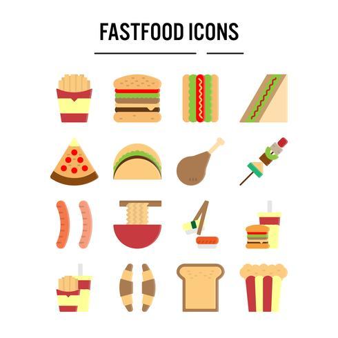 Snel voedselpictogram in vlak ontwerp voor Webontwerp, infographic, presentatie, mobiele toepassing, Vectorillustratie vector