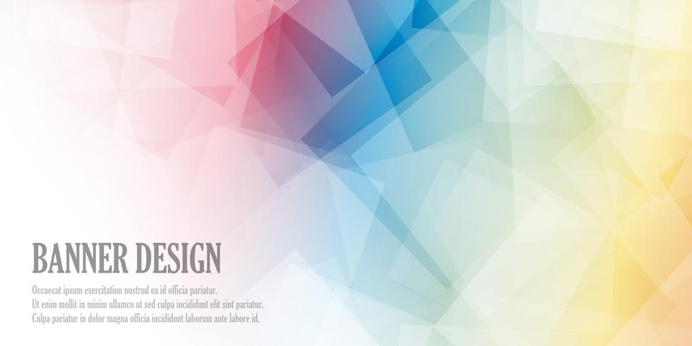 Laag poly-bannerontwerp vector
