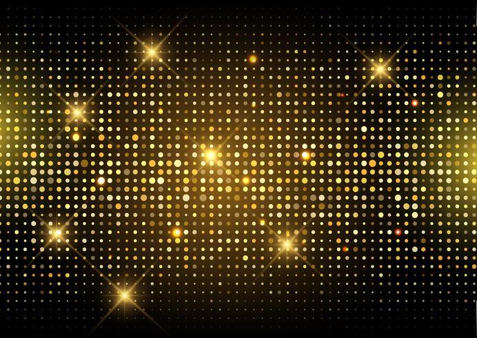 Schitter de gouden achtergrond van discolichten vector