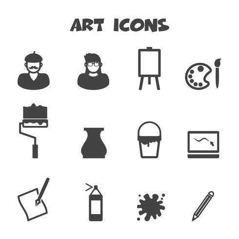 kunst pictogrammen symbool vector