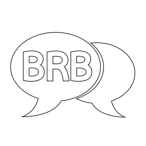 internet acroniem chat bubble illustratie vector