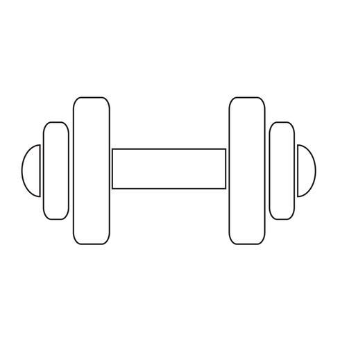 Dumbbell pictogram symbool teken vector