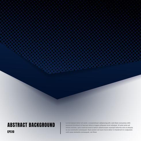 Abstracte papier kunst en halftone stijl lay-out sjabloon. Donkerblauwe gradiëntdriehoeken overlappende realistische schaduwen op wit achtergrondluxeconcept. U kunt materiaalontwerp gebruiken voor brochure, bannerweb, poster vector