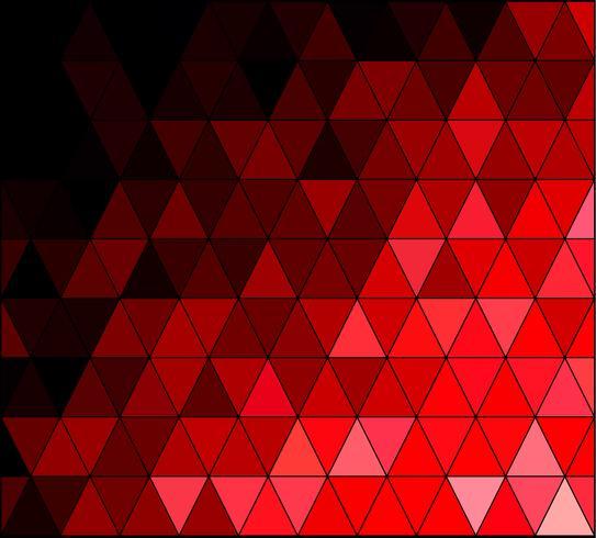 Rode vierkante raster mozaïek achtergrond, creatief ontwerpsjablonen vector
