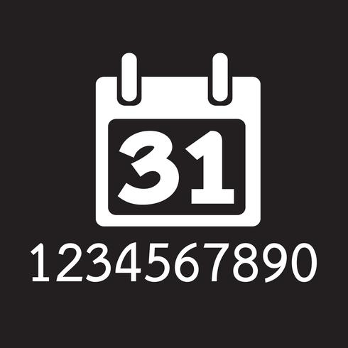 Kalender pictogram symbool teken vector