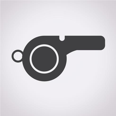 Fluitje pictogram symbool teken vector