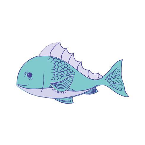 heerlijke zeevruchtenvissen met natuurlijke voeding vector
