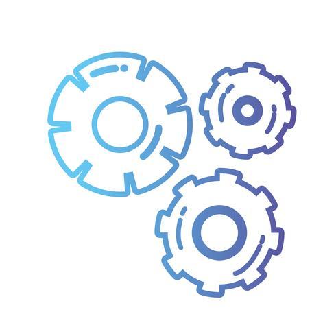 line gear industrie engineering proces vector