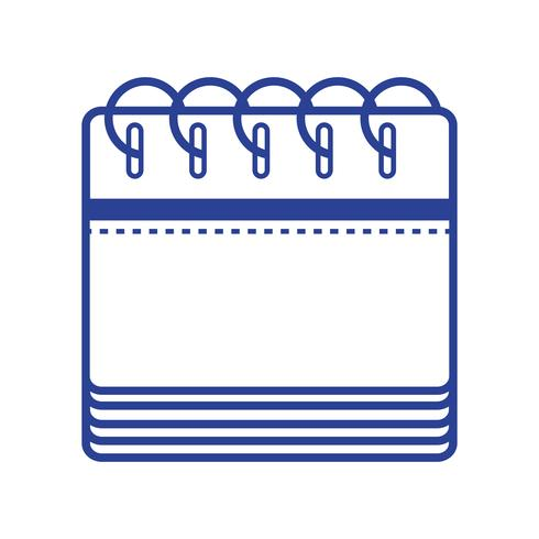 lijn kalenderinformatie naar organisator evenementendag vector