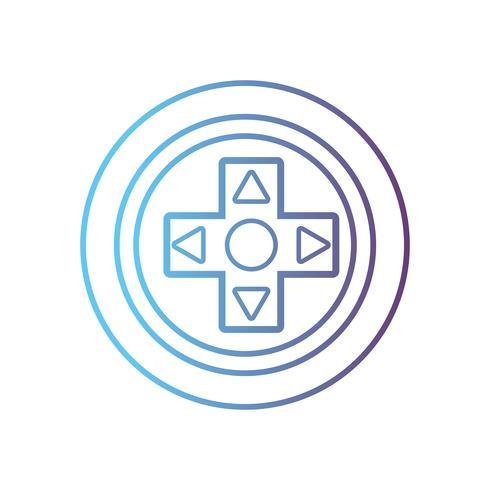 lijn videogame controller knoppen technologieontwerp vector