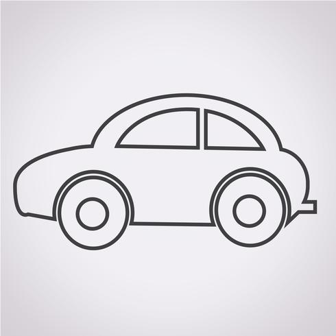 Auto pictogram symbool teken vector