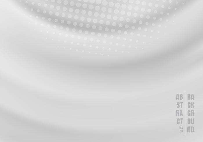 De abstracte vloeistof roteert wervelende gegolfte grijze achtergrond met radiale halftone. vector