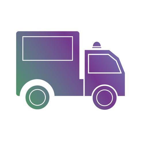 lijntransport voertuigtransport tot levering vector
