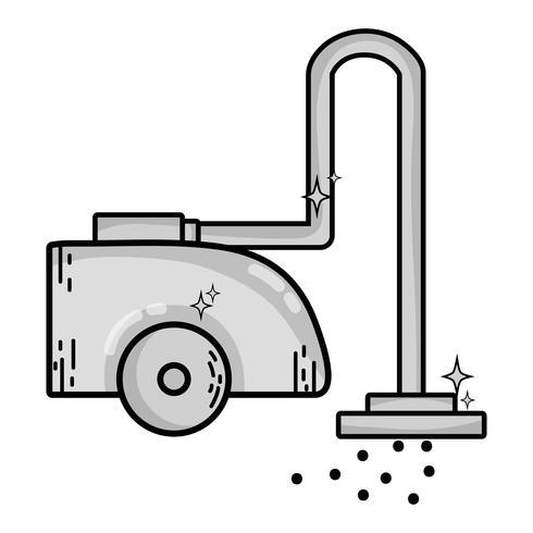 grijstinten vacuüm cleanner machine elektrische apparatuur vector