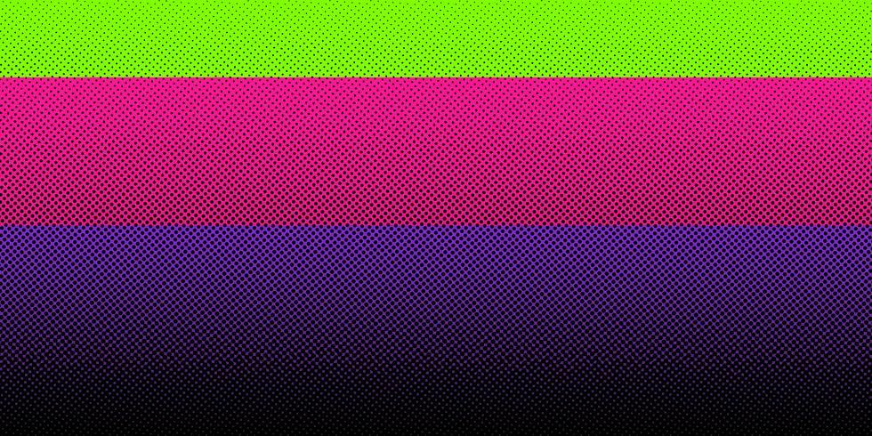 Abstracte zwarte halftone gradiënt op heldere kleurenachtergrond. Puntenpatroon. U kunt gebruiken voor sjabloonbrochure, bannerweb, omslag, kaart, print, poster, folder, flyer, etc. vector