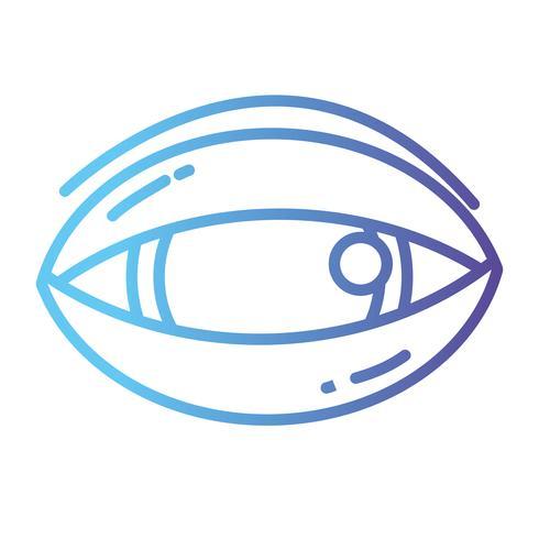 lijn menselijk oog naar optische visie pictogram vector