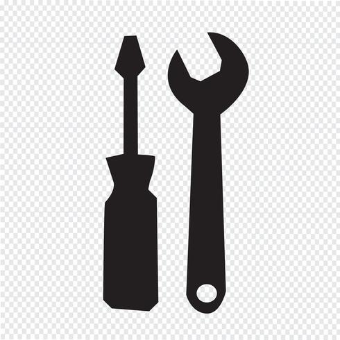 Gereedschap pictogram symbool teken vector