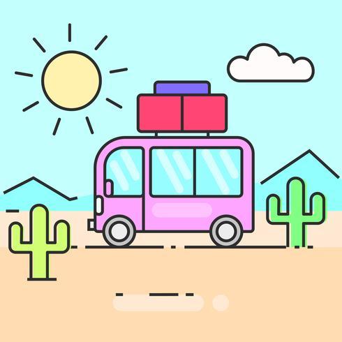 Busreis de wereldillustratie voor uw behoeften vector