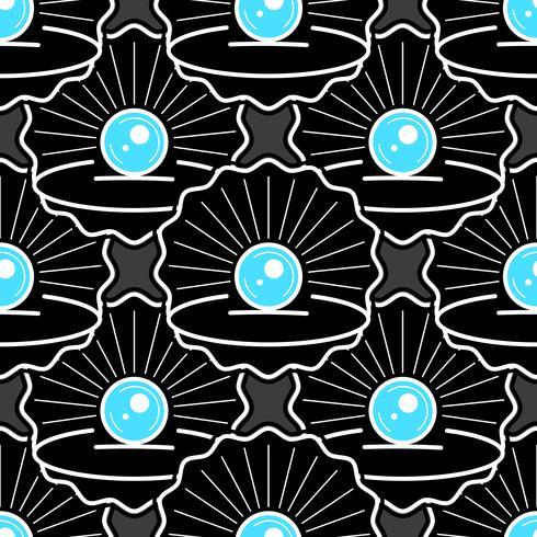 Schattig huid naadloze patroon met parel klaar voor uw ontwerp, wenskaart, vector