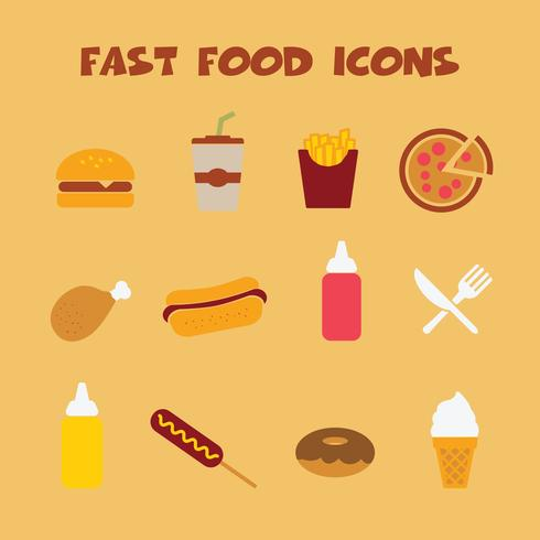 snel voedsel icons2 vector