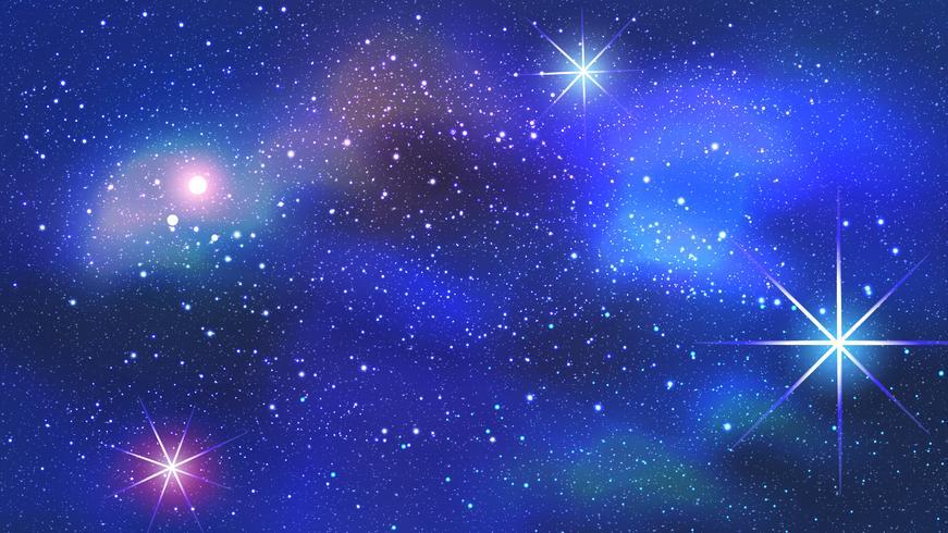 Kleurrijke nevel op de achtergrond van de ruimte. Vector illustratie.