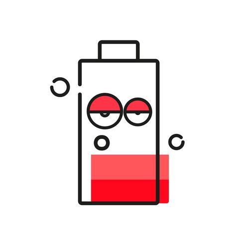 Batterijpictogram op witte achtergrond voor uw ontwerp vector
