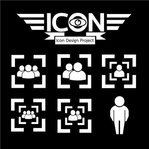 mensen pictogram symbool teken vector