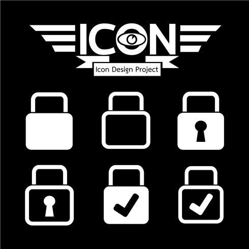 Lock pictogram symbool teken vector
