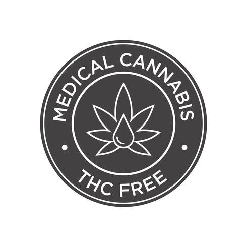 Medicinale cannabis. THC Gratis pictogram. vector