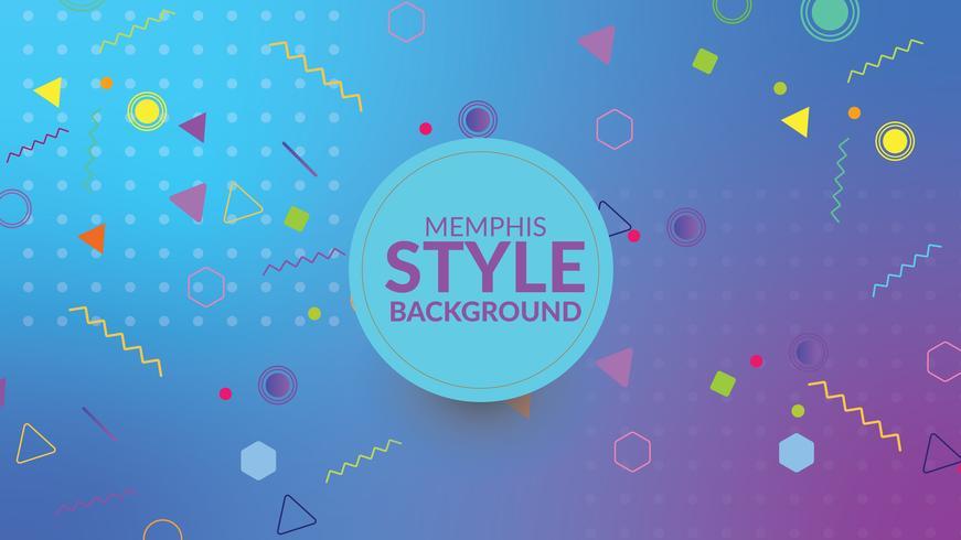 Memphis stijl gradient achtergrond vector