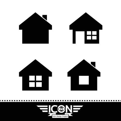Huis pictogram symbool teken vector