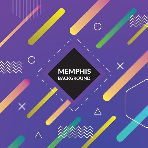 Memphis kleurrijke achtergrond vector