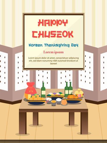 Chuseok banner ontwerp achtergrond. vector