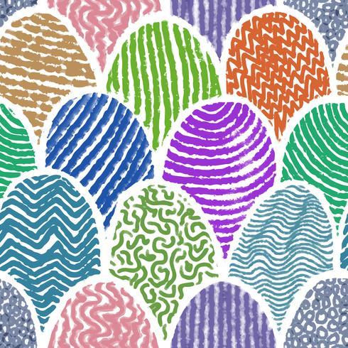 Kleurrijke krabbel die naadloze achtergrond trekt. vector