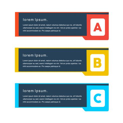 Creatieve minimaal concept vector png banners