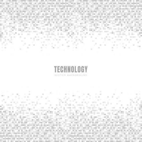 De abstracte geometrische witte en grijze achtergrond en de textuur van het vierkantenpatroon met ruimte voor tekst. Technologie stijl. Mozaïek raster. vector