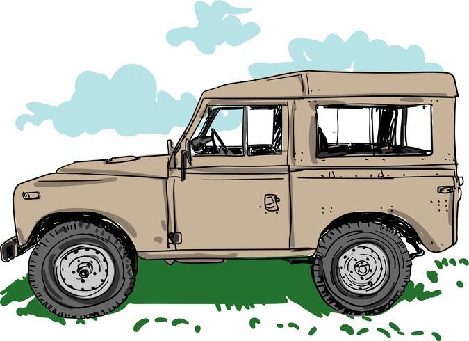 Off-road voertuig vectorillustratie vector