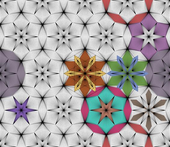 Abstracte geometrische naadloze achtergrond op vector grafische kunst.