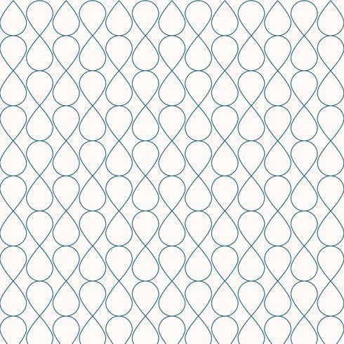 Abstracte naadloze geometrische blauwe het ornament modieuze achtergrond van het lijnenpatroon. Raster met krullende cellen streep tegel textuur gaas van druppels. vector