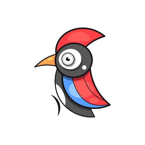 Specht. Vogel dieren abstract vector sjabloon Dierentuin dieren in het wild bedrijf pictogram natuur bedrijf