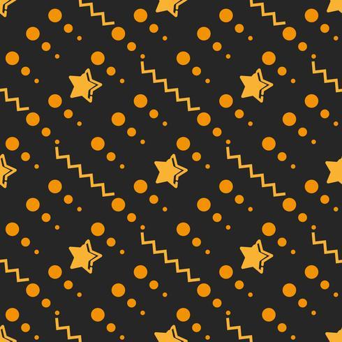 Ster Naadloos Patroon, Hand Getrokken Geschetste Krabbelsterren, Vectorillustratie vector