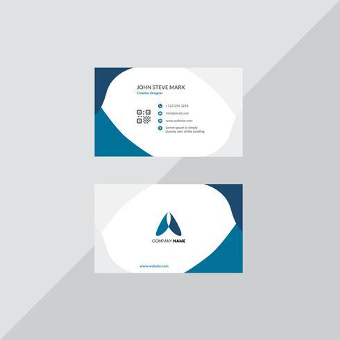 Sjabloon voor professionele visitekaartjes vector