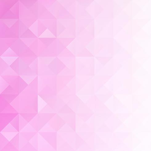 Roze raster mozaïek achtergrond, creatief ontwerpsjablonen vector